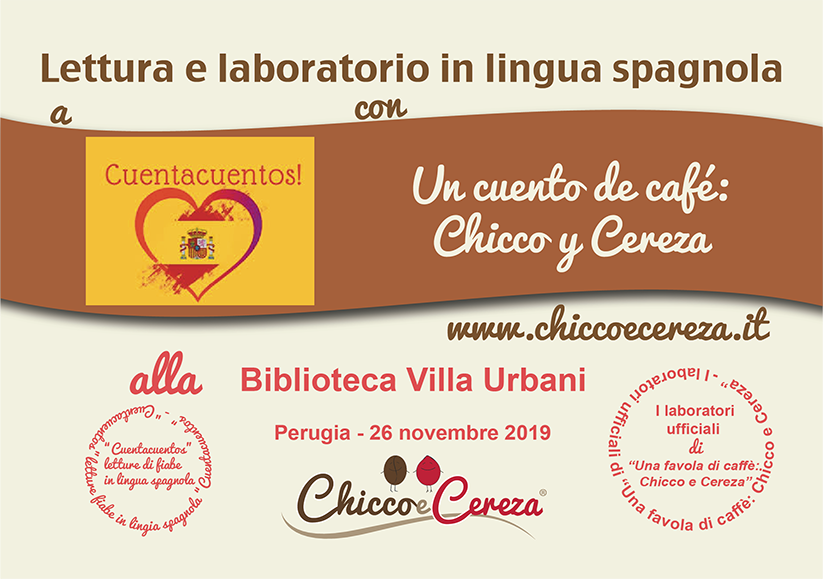 """IN EVIDENZA: A """"Cuentacuentos"""", la """"favola di caffè di Chicco e Cereza"""" in…"""