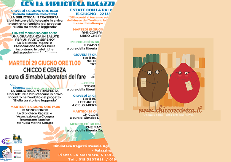 Alla biblioteca civica di Biella Chicco e Cereza protagonisti del laboratorio dei Simabè…